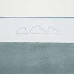 Meyco Laken Little Clouds Jade  75 x 100 cm