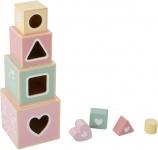 Little Dutch Houten Stapelblokken Roze