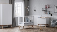 Vox Ledikant  60-120 / Commode 3 Laden / Hanglegkast 2 Deuren Nature White Oak