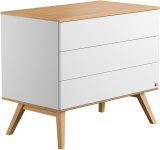 Commode 3 Laden Nature White Oak