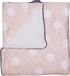 Petit Juul Wiegdeken Pink Dot/ Cream Teddy 75 x 100 cm