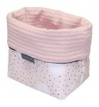 Petit Juul Verzorgingsmand Pink Dot/ Cream Wafel