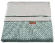 Baby's Only Wiegdeken Chenille Robust Stonegreen 70 x 95 cm