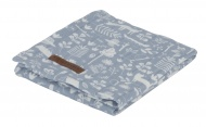Little Dutch Swaddle Adventure Blue  120 x 120