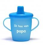 KiddyBoo Anti-Lekbeker I Love Papa Azuurblauw