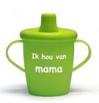 KiddyBoo Anti-Lekbeker I Love Mama Lime