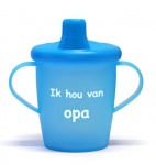 KiddyBoo Anti-Lekbeker I Love Opa Azuurblauw