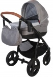 Bo Jungle B-Zen 4 In 1 Stroller Light Grey Inclusief Bijpassende Reistas
