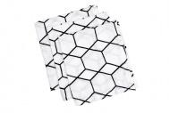 Briljant Hydrofiele Washandjes Grid Wit/Zwart (3 stuks)