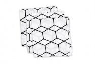 Briljant Hydrofiele Monddoekjes Grid Wit/Zwart (3 stuks)