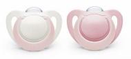 NUK Genius Fopspeen Soft Pink 0-6mnd 2Pack