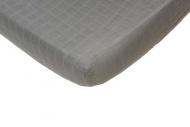 Hoeslaken Hydrofiel Grijs  60 x 120 cm.