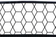 Briljant Laken Grid Black/White 100 x 150 cm