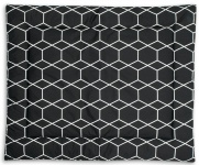 Briljant Boxkleed Grid Black/White 80 x 100