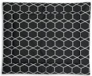 Briljant Boxkleed Grid Black/White 80 x 100
