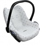 Dooky Seat Cover 0+ Light Grey Crowns