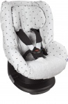 Dooky Seat Cover 1+ Light Grey Crowns