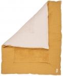 Koeka Boxkleed Wafel Amsterdam Ochre/Pebble 80 x 100 cm