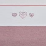 Meyco Laken Geometric Heart Roze  100 x 150 cm