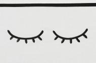 Meyco Laken Sleepy Eyes Zwart  100 x 150 cm