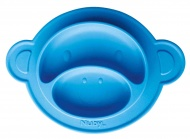 Nuby Bord Aap Blauw Siliconen