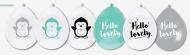 Ballon Hello Lovely Pinguin6 stuks