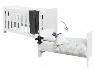 Bopita Ledikant 70-140 Merel White Inclusief Juniorzijdes