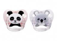 Dr. Brown's Fopspeen Fase 3 Panda Pink (2Stuks)