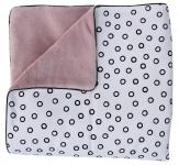 Petit Juul Ledikantdeken Old Pink/Black Bubble 100 x 140 cm