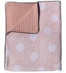 Petit Juul Wiegdeken Zomer Pink Dot/ Cream 75 x 100 cm