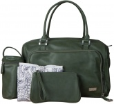 Isoki Double Zip Satchel Khakigreen