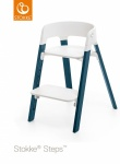 Stokke® Steps™ Chair Seat White Legs Beech Wood Midnight Blue