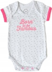 Born To Be Famous Romper White/Pink