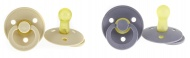 Bibs Fopspeen 0-6mnd Iron/Beige (2 stuks)