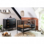 Coming kids Ledikant 60-120 / Commode 3 laden Bliss Black
