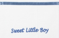 Briljant Laken Sweet Little Boy Blauw  75 x 100 cm