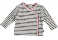 Babylook T-Shirt Overslag Stripe