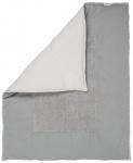 Koeka Boxkleed Stockholm Steelgrey/Silvergrey  80 x 100 cm