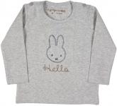 Nijntje/Miffy T-Shirt Hello Grijs