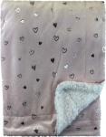 Soft Touch Deken Moon/Heart Roze  75 x 100 cm