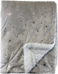 Soft Touch Deken Moon/Stars Grijs  75 x 100 cm