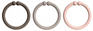 Bibs Ring Loops Chocolate/Dark Oak/Blush (12 stuks)