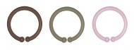 Bibs Ring Loops Chocolate/Dark Oak/Blush (12 stuks)