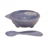 BD Collection Yummy Bowl + Spoon Blue