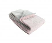 Noukie's Deken Mix en Match Groloudoux roze/grijs 75 x 100 cm