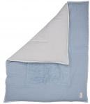 Koeka Boxkleed Wafel Amsterdam Soft Blue/Grey 80 x 100 cm