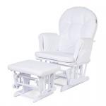 Childhome Gliding Chair Soft White Inclusief Voetenbank + Frame