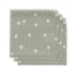 Little Lemonade Monddoek Dots Grey (3pack)