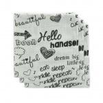 Little Lemonade Monddoek Quotes Black/White (3pack)