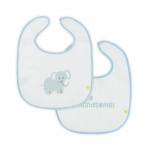 Little Lemonade Slabber Waterproof Hello Handsome/Elephant Blue (2pack)